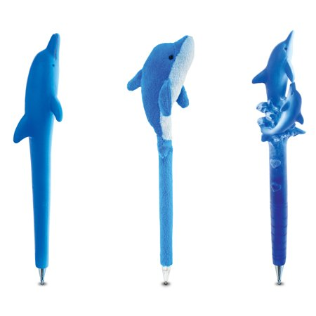 Puzzled Dolphin Planet Pen and Plush Pen - Ocean \ Sea Life Theme - Set of 3