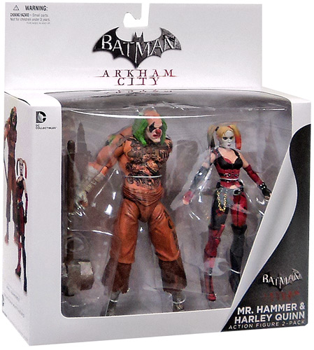 Batman Arkham City Mr. Hammer & Harley Quinn Action Figure 2-Pack
