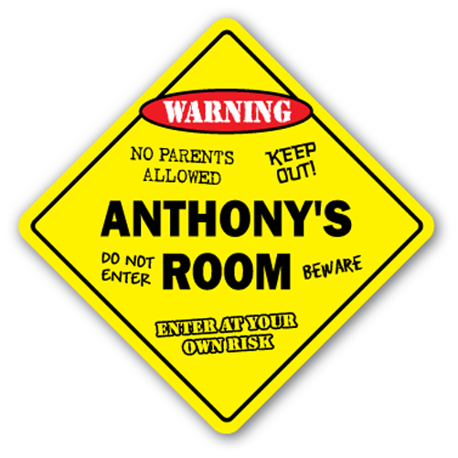 ANTHONY'S ROOM SIGN kids bedroom decor door children's name boy girl gift by SignMission
