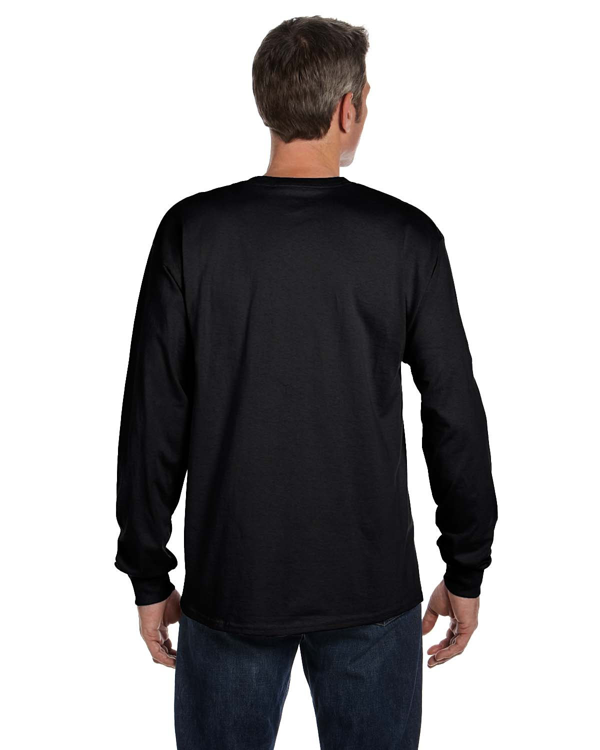 Hanes Men's Tagless Cotton Long Sleeve Pocket Tshirt - Walmart.com