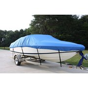 "NEW VORTEX 5 YEAR CANVAS HEAVY DUTY BLUE VHULL FISH SKI RUNABOUT COVER FOR 23 to 24' FT BOAT, IDEAL FOR 102"" BEAM (FAST SHIPPING - 1 TO 4 BUSINESS DAY DELIVERY)"