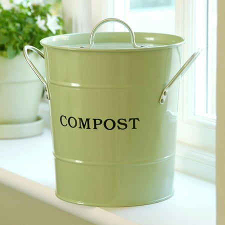 Exaco 2-in-1 Kitchen Compost Bucket with Lid (Best Compost Bin Kitchen Scraps)