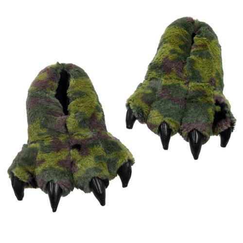 "Green Camo Slippers 7"" by Wishpets - 54333"