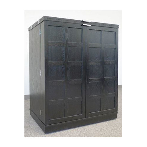 California Fold-A-Way Bar Cabinet in Black Finish