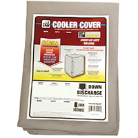 Dial Mfg Weatherguard 8912 Down Draft Evaporative Cooler Cover, 28Wx28Dx34H Poly