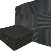 """12 Pack Acoustic Panels Studio Soundproofing Foam Wedges Wall Foam Tiles Sound Proof Sound Insulation Absorbing 12"""" X 12"""" X 1"""""""