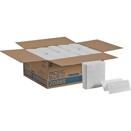 (Pacific Blue Ultra, GPC20885, Z-Fold Paper Towel by GP PRO, 2600 / Carton, White)