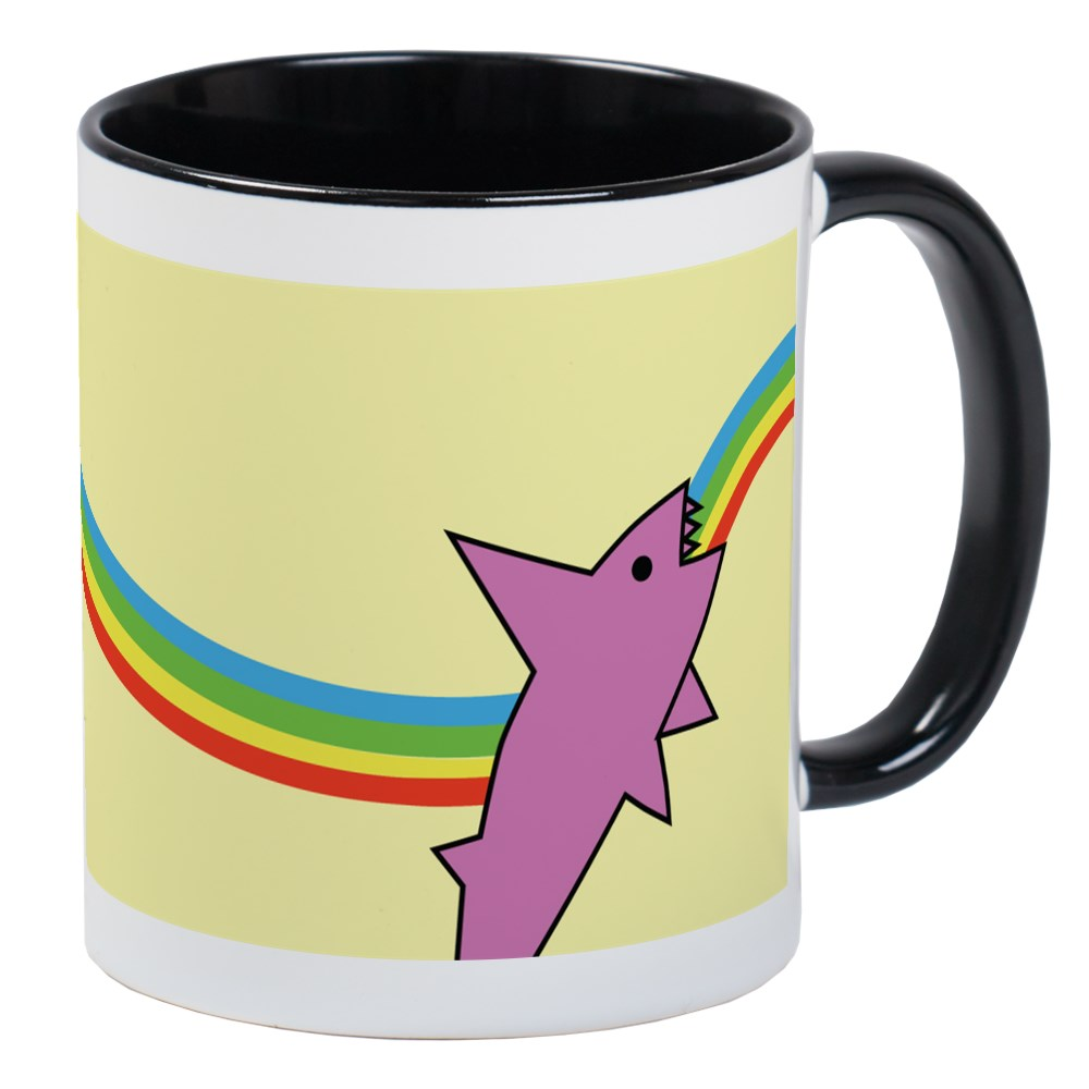 CafePress - Jake's Rainbow Shark Mug - Unique Coffee Mug, Coffee Cup CafePress