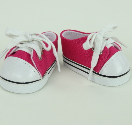 """18"""" Doll Clothing Low Top Sneakers, Hot Pink"""