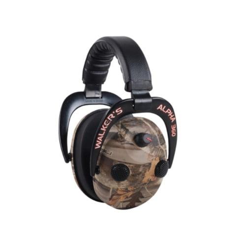 c5aaebcf7d31 WALKERS GAME EAR ALPHA MUFFS 360 EARMUFF 24 DB CAMO - Walmart.com