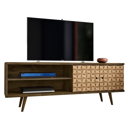 Liberty 6299 Mid Century Modern Tv Stand With 3 Shelves And 2
