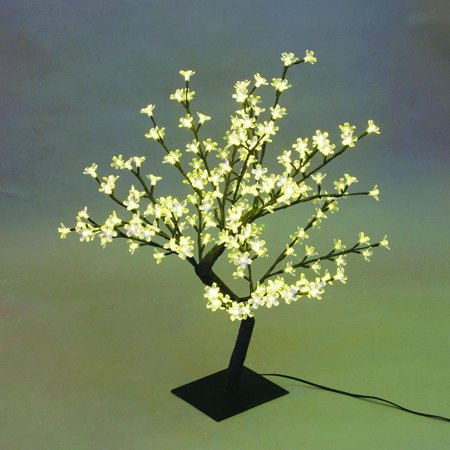 "Creative Motion Industries 17.71 in. Beautiful LED Cherry Blossom Tree Table Lamp,Home, Room, Office Decor, Product Size: 13.77"" x 17.7"" x 13.77"""