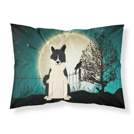 Halloween Scary Russo-European Laika Spitz Fabric Standard Pillowcase BB2219PILLOWCASE