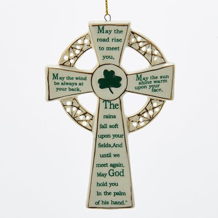 Pack of 12 Luck of the Irish Celtic Cross with Blessing Christmas Ornaments 4.5