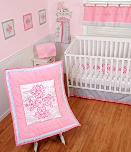 Sumersault 4 Piece Crib Bedding Set, Princess by Sumersault