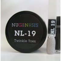 NUGENESIS Nail Color Dip Dipping Powder 1.5oz/43g jar - NL19 TWINKLE TOES