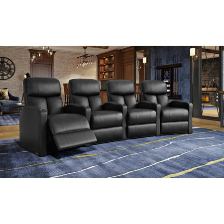 Octane Bolt XS400 4 Seater Curved Power Recline Home Theater Seating ()