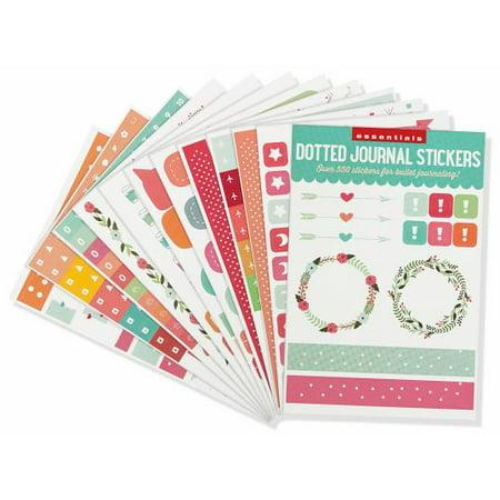Essentials Dotted Journal Planner Stickers (Paperback) - Journaling Sticker Book