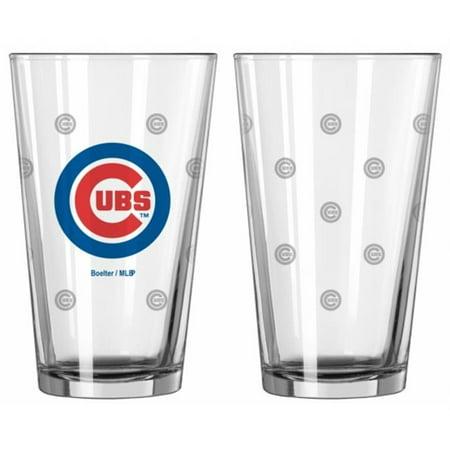 Chicago Cubs Satin Etch Pint Glass Set - image 1 de 1