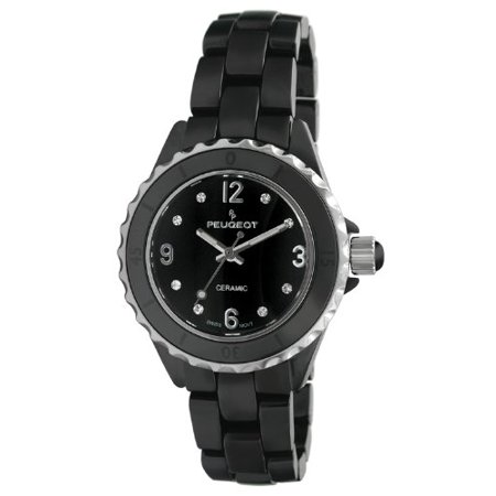 Women's PS4894BK Swiss Ceramic Sport Bezel Black Dial Watch Black Dial Ceramic Bezel