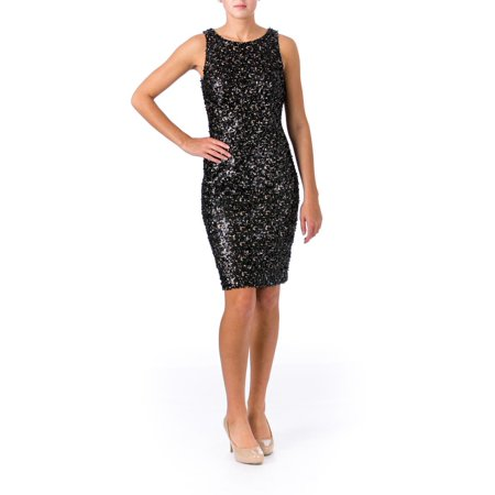 (Sue Wong Womens Sequined Prom Cocktail Dress)