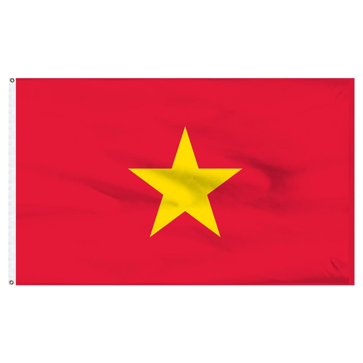 Vietnam Flag 5ft x 8ft Nylon