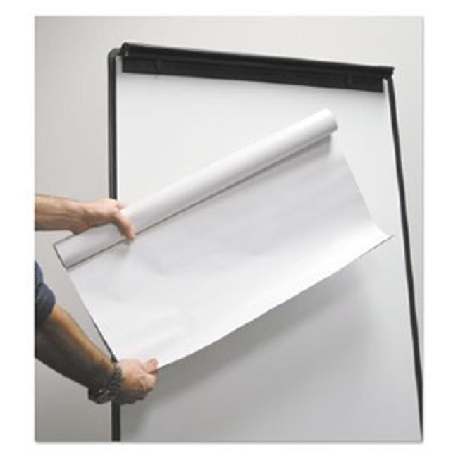 BVC FL1230207 MasterVision Super Value Reposisitionable Easel Pad Roll, White
