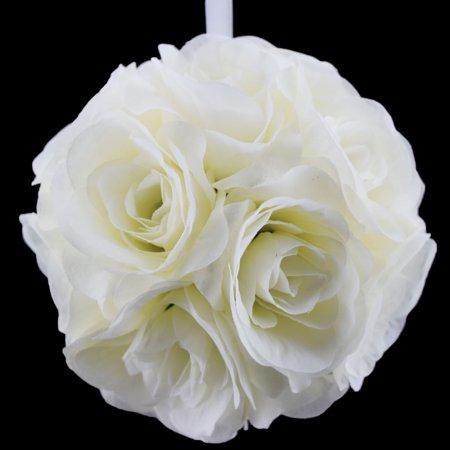8 beige ivory rose flower pomander small wedding kissing ball for 8 beige ivory rose flower pomander small wedding kissing ball for weddings and decoration mightylinksfo