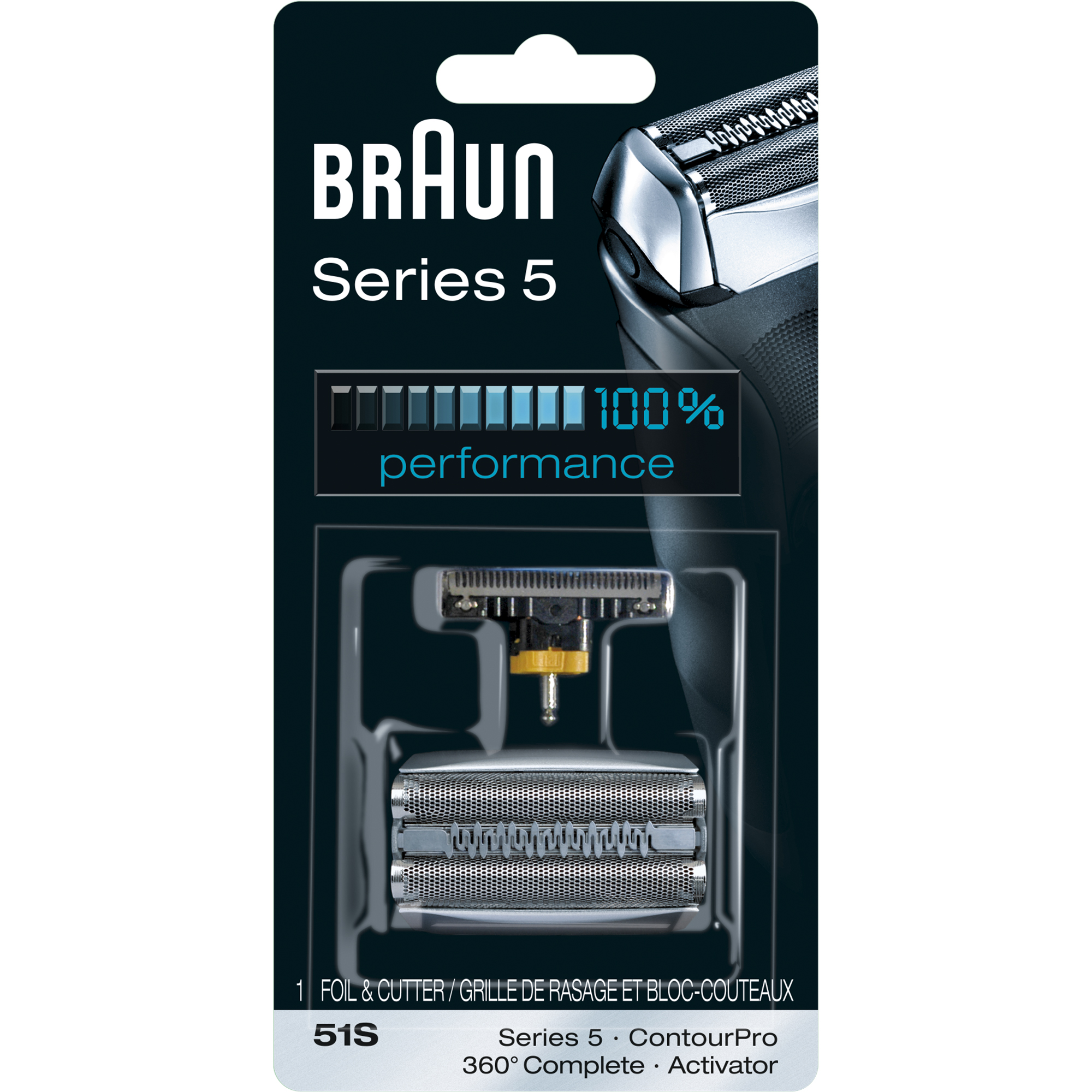 Braun Shaver Replacement Part 51 S Silver- Compatible with Series 5 shavers