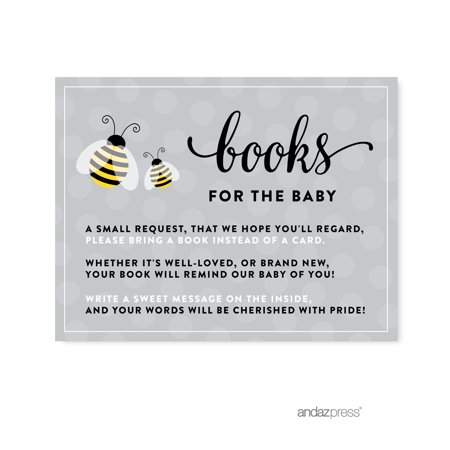 Books For Baby  Mama to Bee Bumblebee Gender Neutral Baby Shower Game Request Cards, 20-Pack
