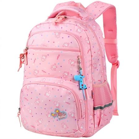 School Backpacks For Girls, Vbiger Waterproof Kids Elementary School Bags Bookbag, Pink