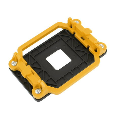 Unique Bargains Socket AM2 940 AMD CPU Fan Heatsink Motherboard Retainer Bracket Black Yellow