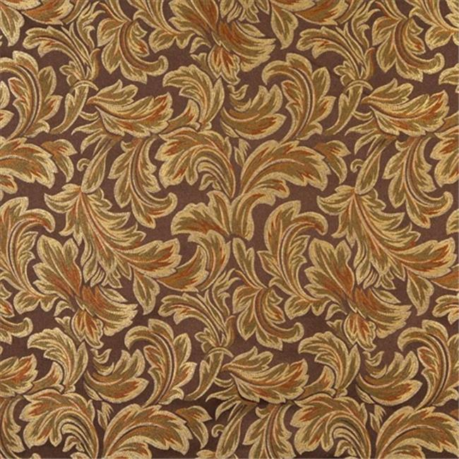 Designer Fabrics F572 54 inch Wide Brown, Bronze, Gold And Ivory, Floral Leaf Damask Upholstery And Drapery Grade Fabric