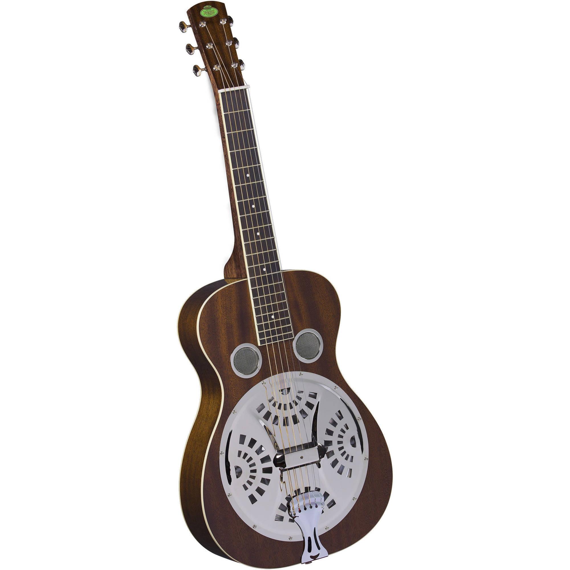 Regal RD-30MS Studio Series Squareneck Resophonic Guitar, Natural Mahogany by Saga Musical Instruments