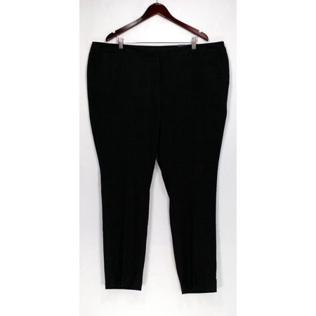 Amanda & Chelsea Plus Size Pants 22W Contemporary Fit Narrow Leg Black ()