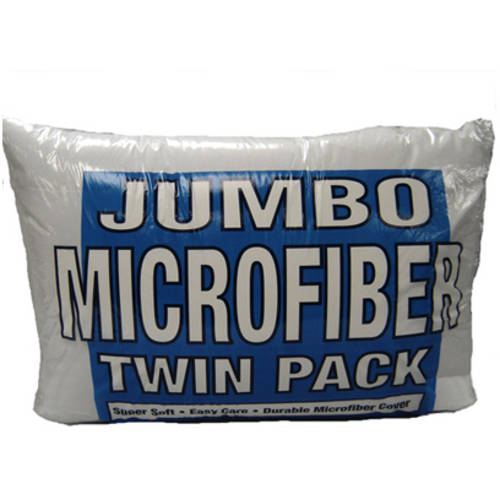 "100% Polyester Jumbo Bed Pillows, Pack of 2 20""x28"""