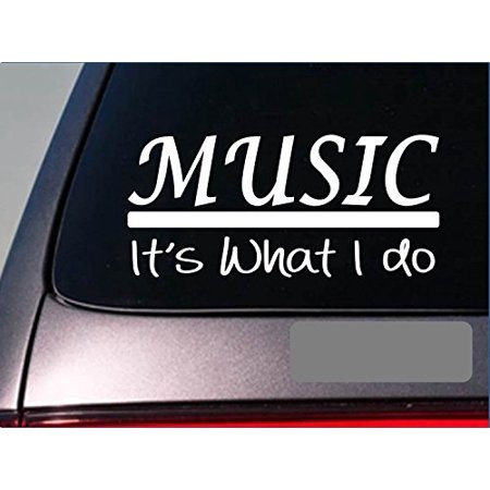 Music sticker decal *E339* sing band guitar bluegrass drums chorus teach mic