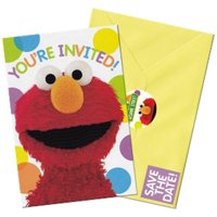 Sesame Street Elmo's Birthday Party Invitations 16 Count Save the Date Stickers