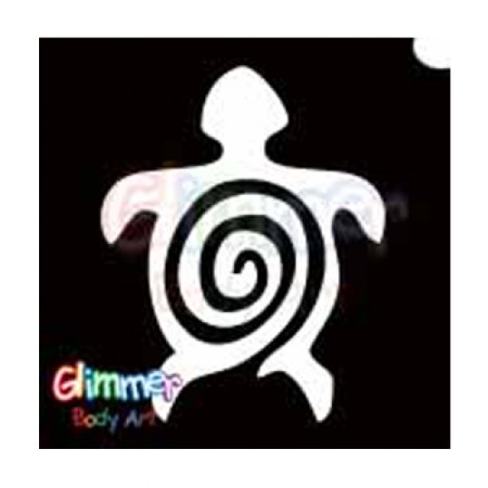 Glimmer Body Art Glitter Tattoo Stencils - Turtle 2 5/pack - Small Turtle Tattoo