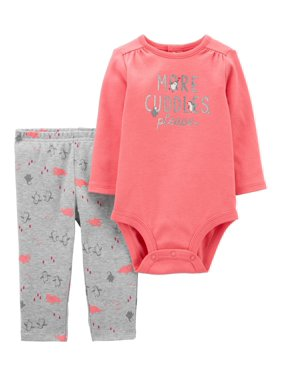 Child of Mine by Carter's Baby Girl Little Sister Bodysuit & Pant, 2pc Outfit Set