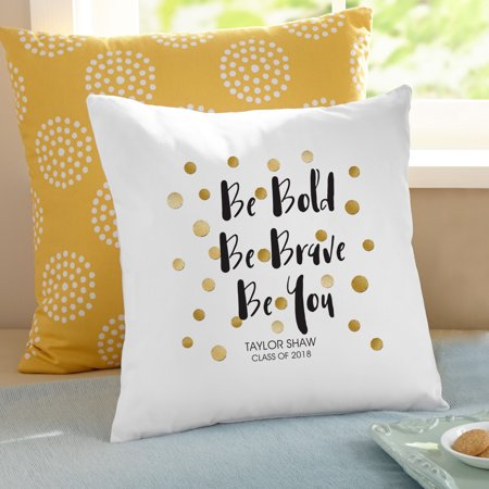 - Personalized Be Bold Graduation Pillow