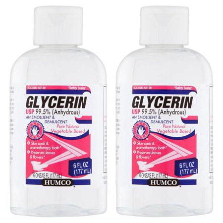 (2 Pack) Humco Glycerin USP An Emollient & Demulcent, 6 fl - Emollient Shower Cream