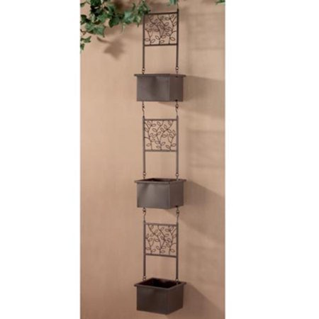 3-Tier Brown Hanging Outdoor Patio Garden Planters 57