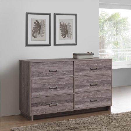 Mainstays Silverton 6 Drawer Dresser, Multiple Colors