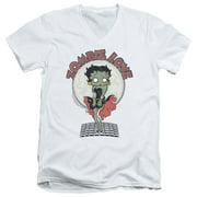 Betty Boop Breezy Zombie Love Mens V-Neck Shirt