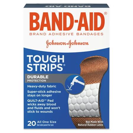 BAND-AID Flexible Fabric Adhesive Tough Strip Bandages, 1