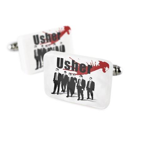 Cufflinks Wedding Blood Usher Reservoir DogsPorcelain Ceramic NEONBLOND - Usher In Wedding