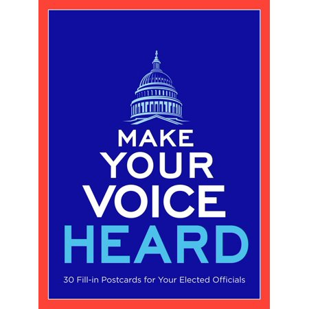 Processing Card - Make Your Voice Heard Postcard Book : Send a Message to Your Elected Officials