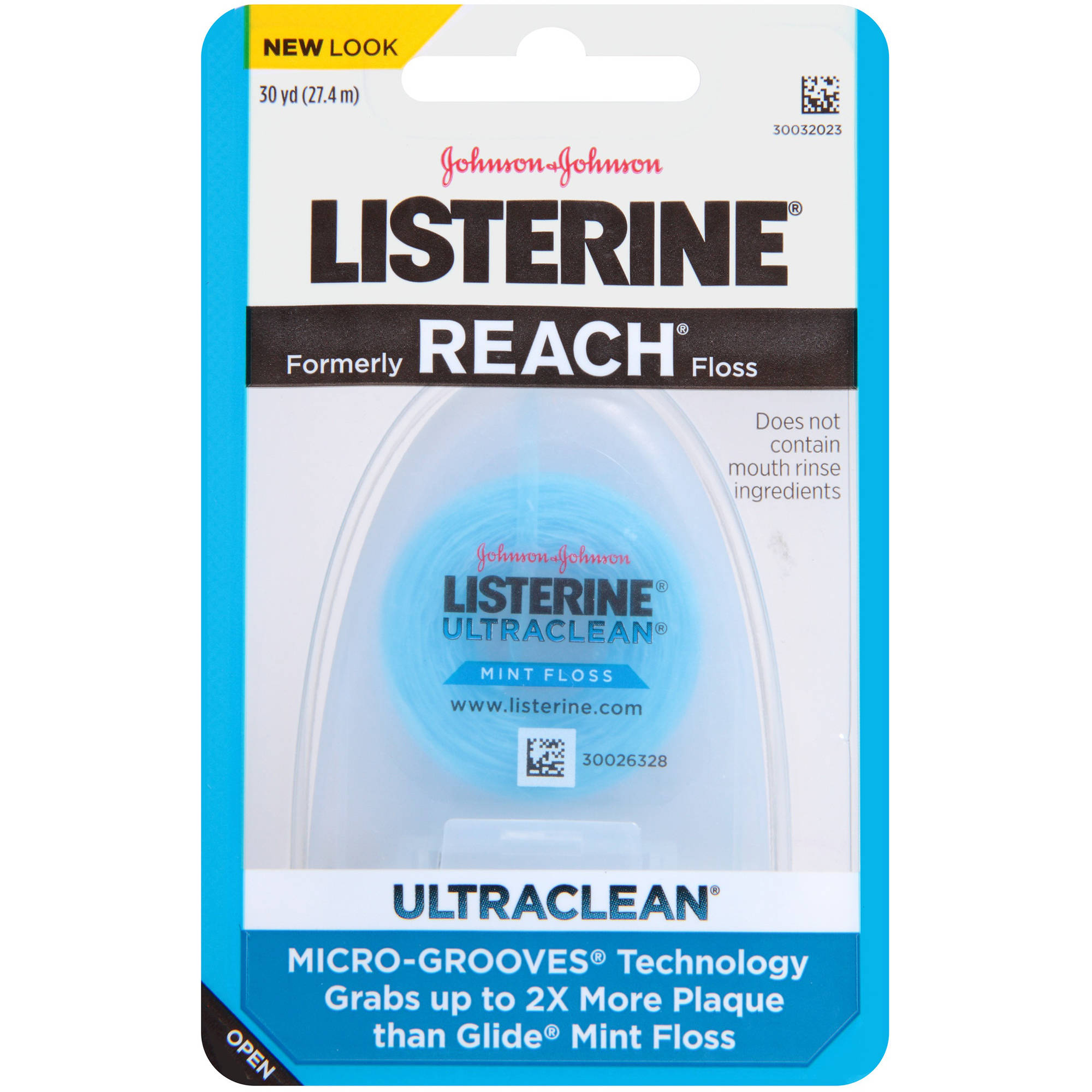 Listerine UltraClean Floss, Mint, 30 Yards