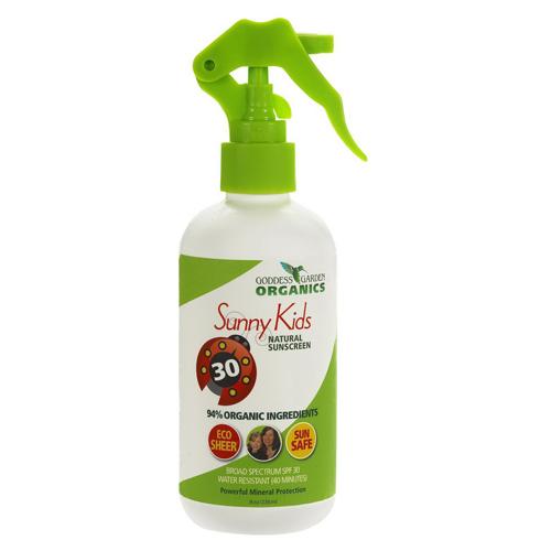 Goddess Garden Sunny Kids Natural Spf 30 Sunscreen Spray ...